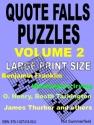 Quote Falls Puzzles. Volume 2.