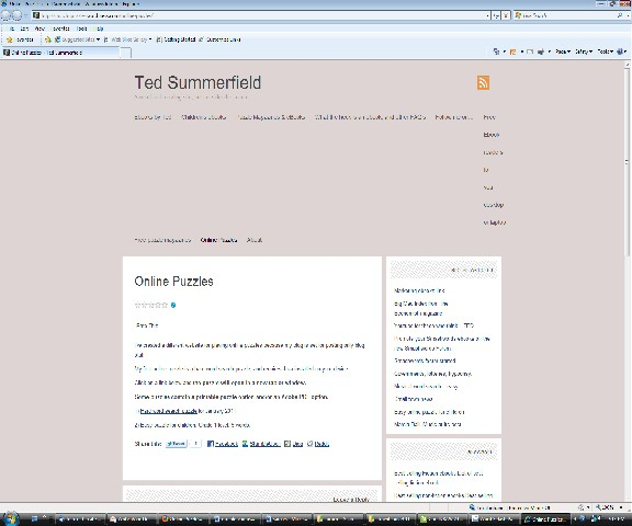 Internet Explorer version of my blog