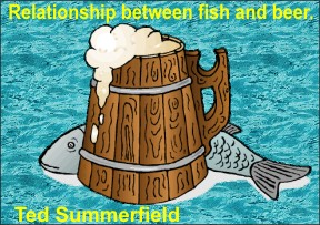 Relationship between fish and beer