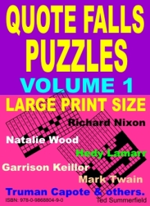 Cover of Quote Falls Puzzles Volume 1 by Ted Summerfield