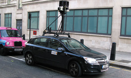 A Google Street View car in London. Photograph: Harold Cunningham/Getty Images