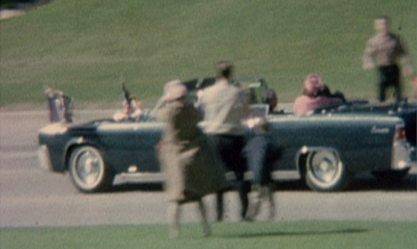 A still from the Nix film, showing Jackie Kennedy craddling John F Kennedy after he had been shot. Photograph: AP