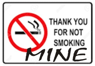 not smoking sign