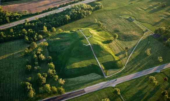 Monk's Mound, centrepiece of the Cahokia world heritage site in southern Illinois. Photograph: Alamy