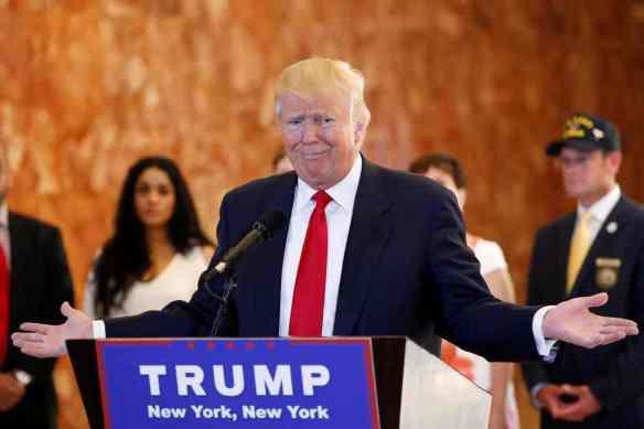 Donald Trump. Photograph: Lucas Jackson/Reuters