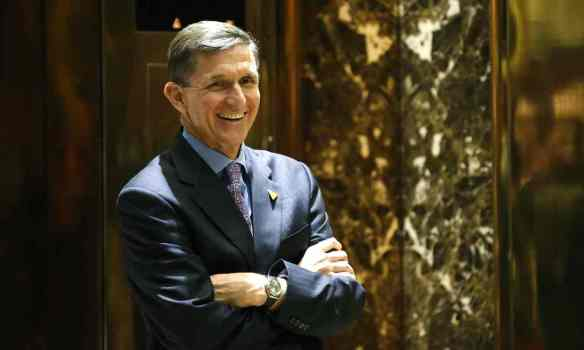 Michael Flynn reportedly improperly shared classified information with foreign military officers. Photograph: Kathy Willens/AP