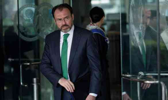 Mexico's foreign minister, Luis Videgaray, leaves the US Department of State after a meeting on 8 February in Washington. Photograph: Brendan Smialowski/AFP/Getty Images