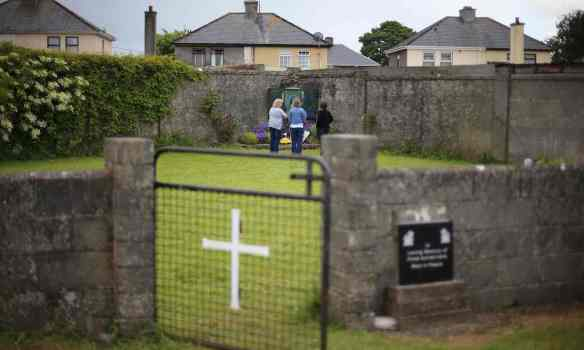 Human remains have been discovered in underground chambers at the site in Tuam, Galway. Photograph: Niall Carson/PA